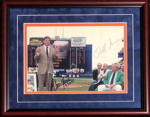 Tom Seaver & Richard Nixon Autographed Framed 11x14 Photo (Beckett)