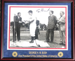 George H.W. Bush Autographed Framed 16x20 Photo (JSA)