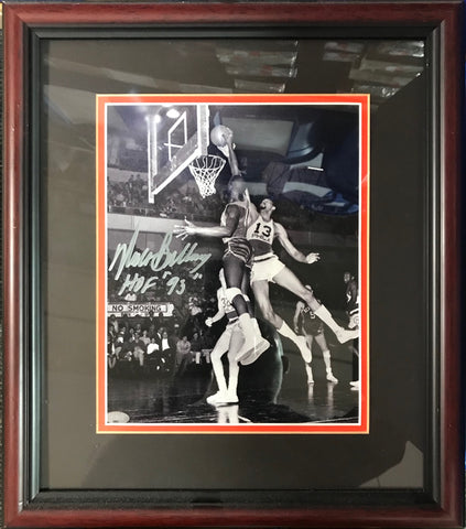 Walt Bellamy Autographed Framed 8x10 Photo