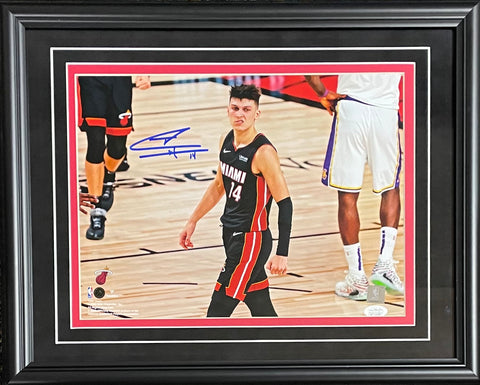 Tyler Herro Autographed Framed The Snarl 11x14 Photo (JSA)