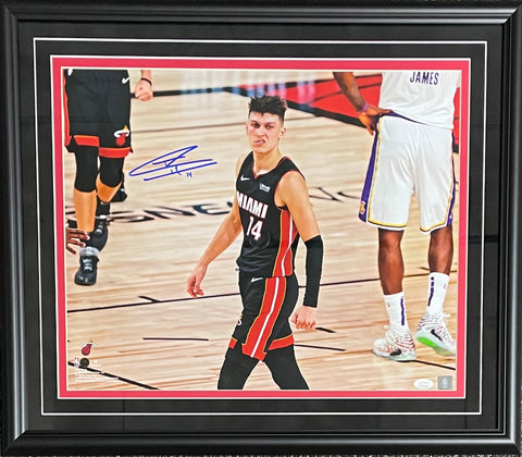 Tyler Herro Autographed Framed The Snarl 16x20 Photo (JSA)