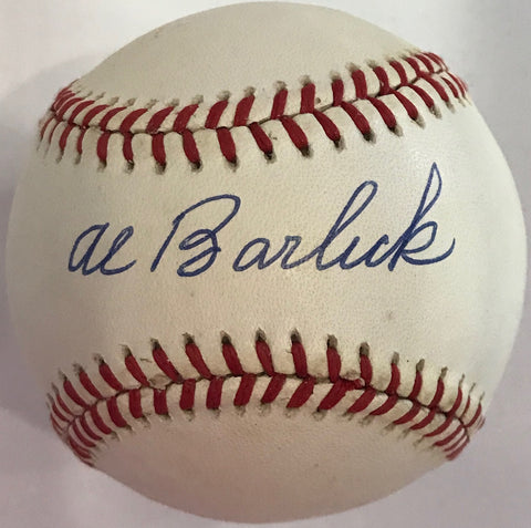 Al Barlick Autographed Official National League Baseball (JSA)