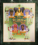 "Baseball's ""The Kings"" All-TIme Leaders Autographed Framed 24x30 Lithograph"