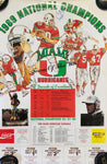 Bryan Fortay Autographed University of Miami 1989 National Champions Poster
