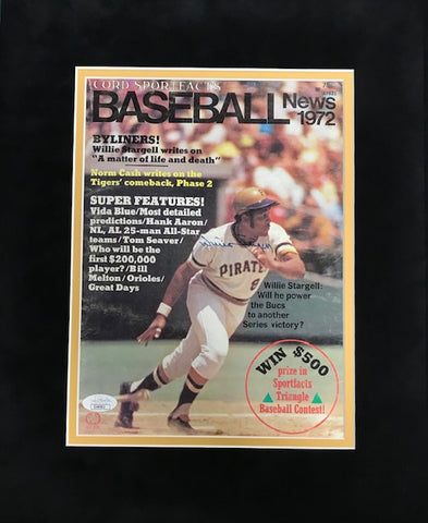 Willie Stargell Autographed Matted 1972 Baseball News Magazine (JSA)