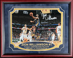 Zion Williamson Autographed Framed 11x14 Photo (Fanatics)