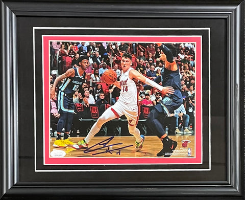 Tyler Herro Autographed Framed 8x10 Photo (JSA)