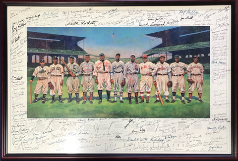 All Time All-Star Negro League Lineup Autographed 24x36 Poster (JSA)