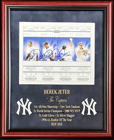 Derek Jeter Autographed Framed Ticket Set (Steiner)