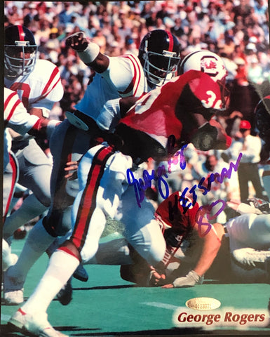 George Rogers Autographed 8x10 Football Photo