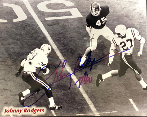 Johnny Rodgers Autographed 8x10 Football Photo