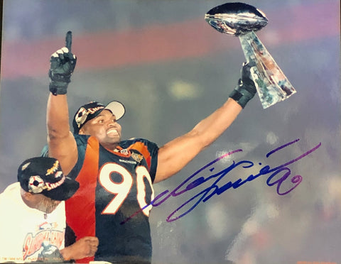Neil Smith Autographed 8x10 Football Photo