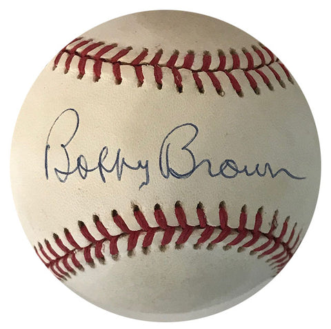 Bobby Brown Autographed Official Baseball (JSA)