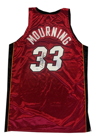 Alonzo Mourning Autographed Authentic 2006-07 Game Model Jersey (JSA)