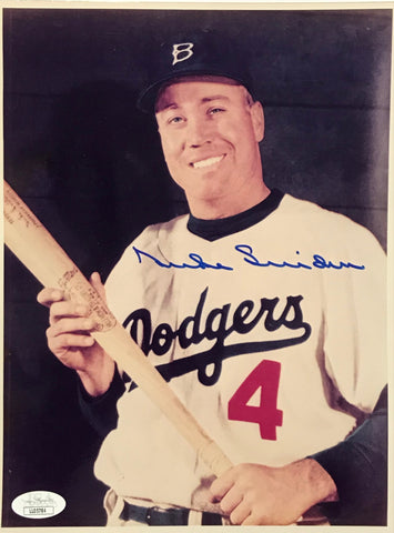 Duke Snider Autographed 8x10 Baseball Photo (JSA)