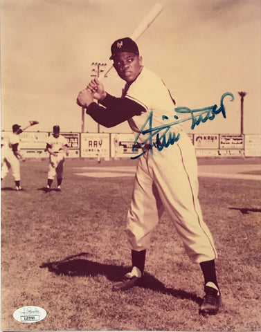 Willie Mays Autographed 8x10 Baseball Photo (JSA)