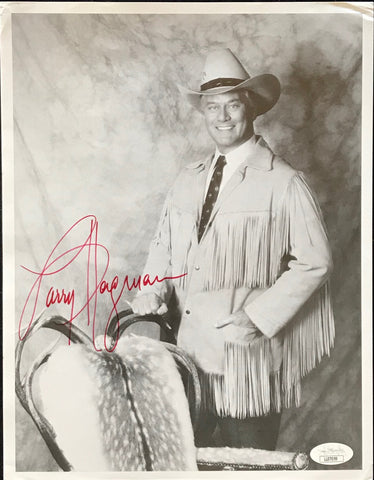 Larry Hagman Autographed 8x11 Photo (JSA)