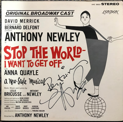 "Anthony Newley Signed ""Stop The World-I Want To Get Off, 1962, Vinyl LP Record (JSA)"