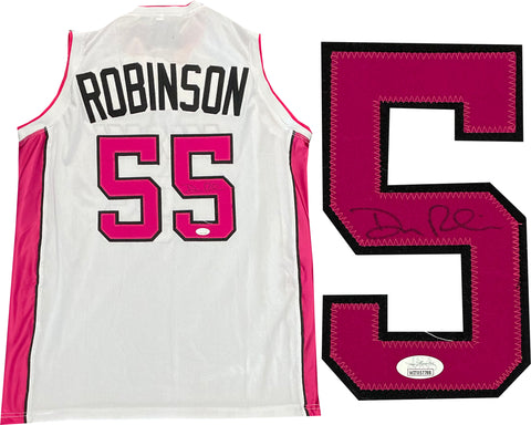 Duncan Robinson Autographed Miami Heat Custom White Jersey (JSA)