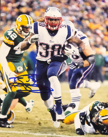 Brandon Bolden Autographed 8x10 Football Photo