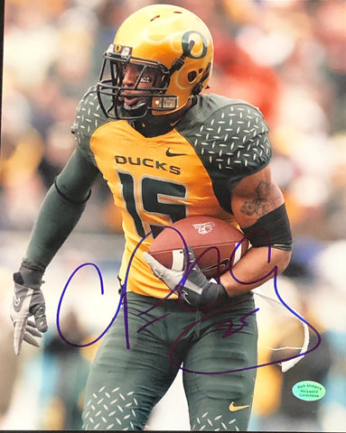 Patrick Chung Autographed 8x10 Football Photo