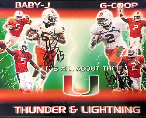 Javarris James & Graig Cooper Autographed 8x10 Football Photo