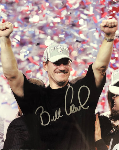 Bill Cowher Autographed 8x10 Football Photo