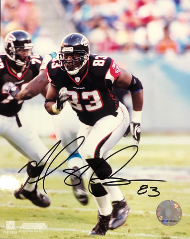 Alge Crumpler Autographed 8x10 Football Photo