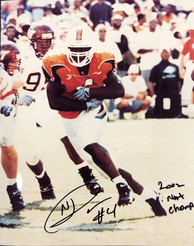 Najeh Davenport Autographed 8x10 Football Photo