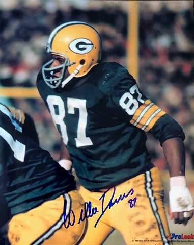 Willie Davis Autographed 8x10 Football Photo