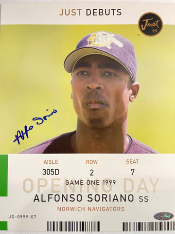 Alfonso Soriano Autographed Norwich Navigators 8x10 Photo
