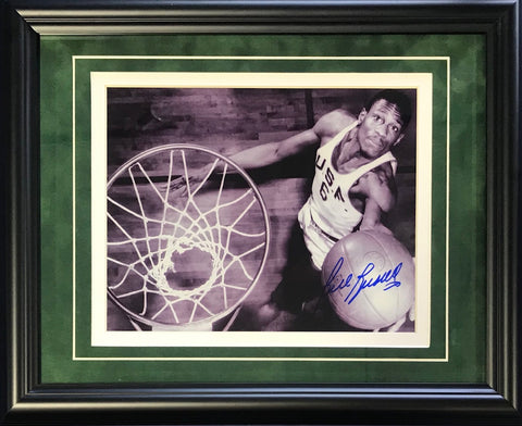 Bill Russell Autographed Framed USF 8x10 Photo