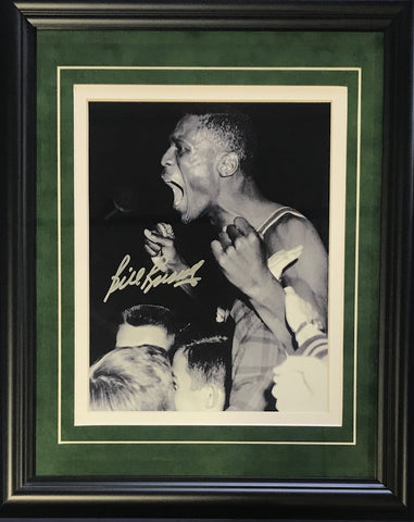 Bill Russell Autographed Framed Celebrating 8x10 Photo
