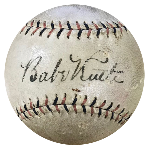 Babe Ruth Autographed 1920's Wilson Official League Baseball (JSA)