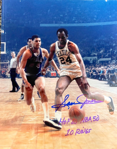 Sam Jones Autographed HOF 8x10 Basketball Photo