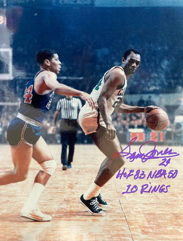 Sam Jones #24 Autographed 8x10 Basketball Photo