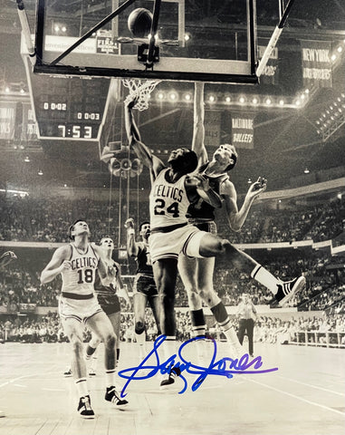 Sam Jones Autographed 8x10 Basketball Photo