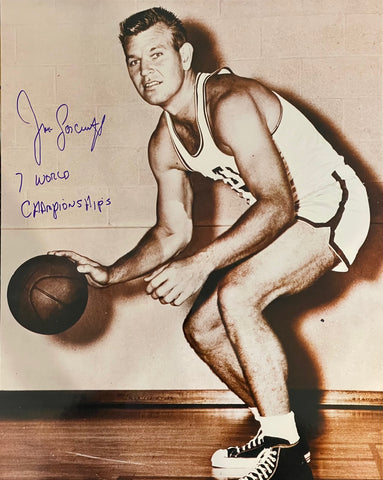 Jim Loscutoff autographed 16x20 Basketball Photo