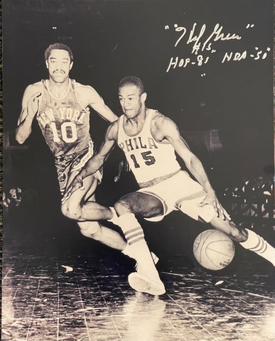 Hal Greer Autographed 16x20 Basketball Photo
