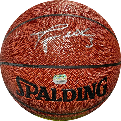 Dwyane Wade Autographed Indoor / Outdoor Basketball (Mounted Memories)