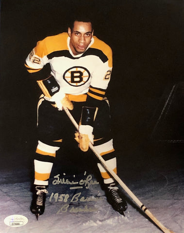 Willie O'Ree Autographed 8x10 Photo (JSA)