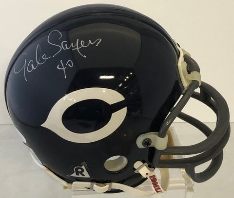 Gale Sayers Autographed Mini Helmet (JSA)