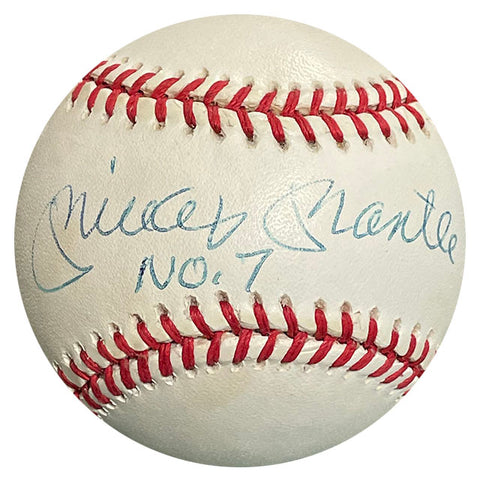 "Mickey Mantle ""No. 7"" Autographed Baseball (JSA)"