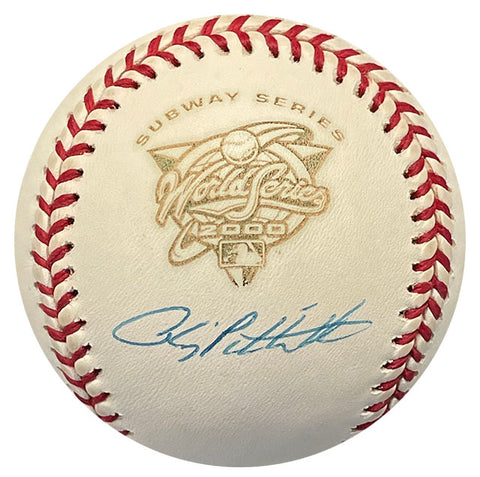 Andy Pettitte Autographed 2000 World Series Baseball