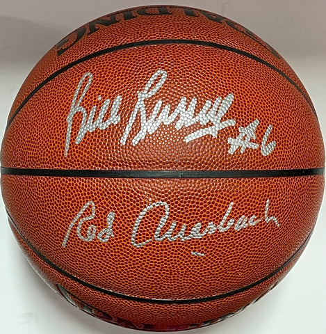 Bill Russell and Red Auerbach Signed Autographed Indoor Outdoor Basketball (JSA)