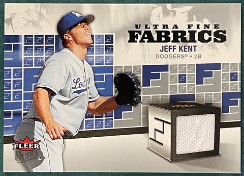 Jeff Kent 2006 Fleer Ultra Fine Fabrics Game Used Jersey Card