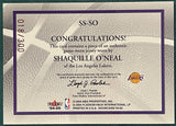 Shaquille O'Neal 2004-05 Fleer Showcase Game Worn Jersey Card #18/300