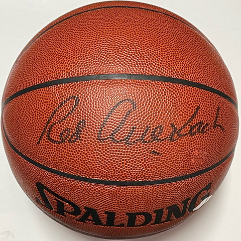 Red Auerbach Autographed Indoor Outdoor Basketball (JSA)