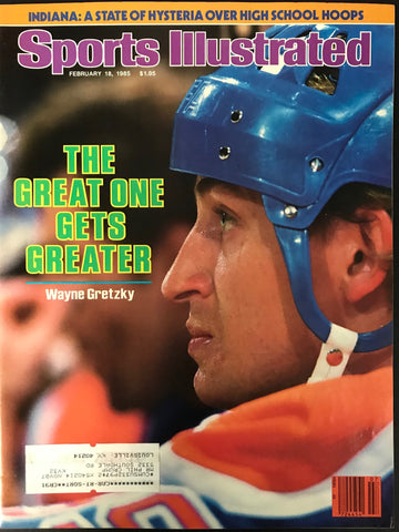 Wayne Gretzky Unsigned Sports Illustrated Magazine February 18 1985