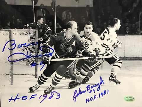 Bobby Hull & Johnny Bucyk Autographed 8x10 Photo